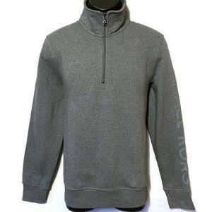 NWOT Michael Kors Men's 1/4 Zip Gray Sweater